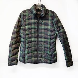 Uniqlo Plaid Down Filled Puffer Jacket Long Sleeve